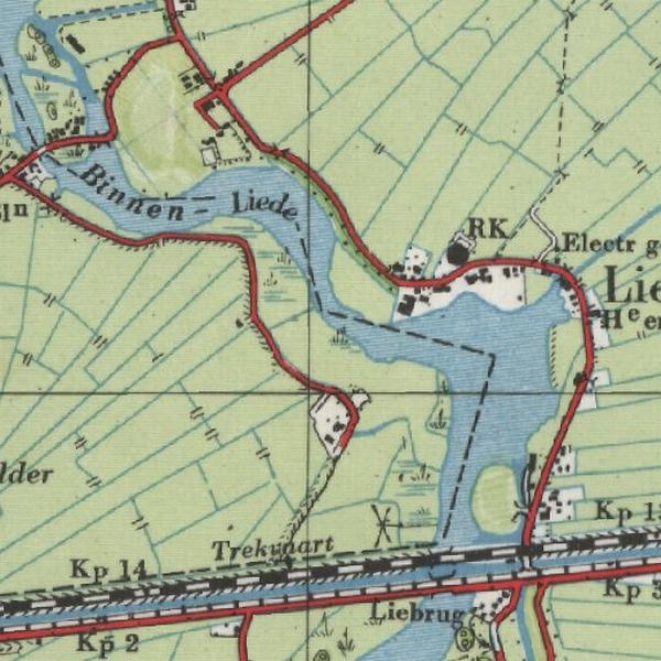 Militaire kaart  van de Liede