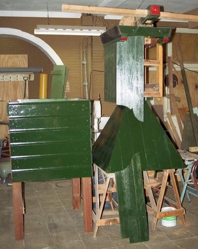 een kittig groen molentje